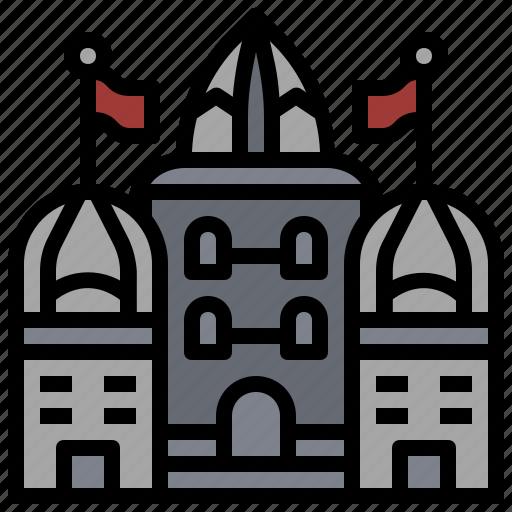 buildings, castle, construction, fantasy, medieval, monument, monuments icon