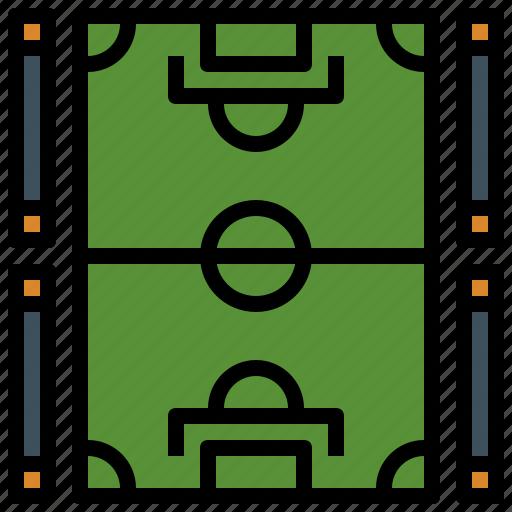 field, football, game, soccer, sport, sports, stadium icon