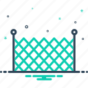 barricade, fence, mesh, palisade, rampart, security, stockade icon