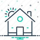domicile, habitation, homestead, house, mansion, premises, residence icon