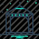 alcove, arbor, comfortable, courtyard, gazebo, pavilion, pergola icon