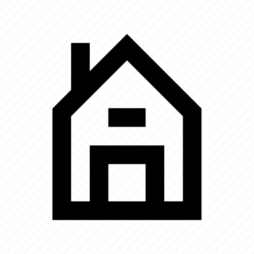 building, house, hut, shack, villa icon