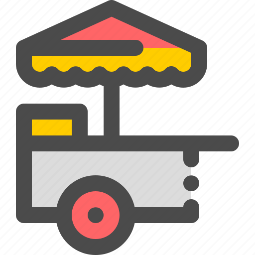 business, cart, food, lunch, street icon