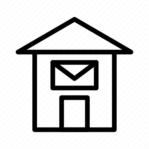 building, office, post, post office icon