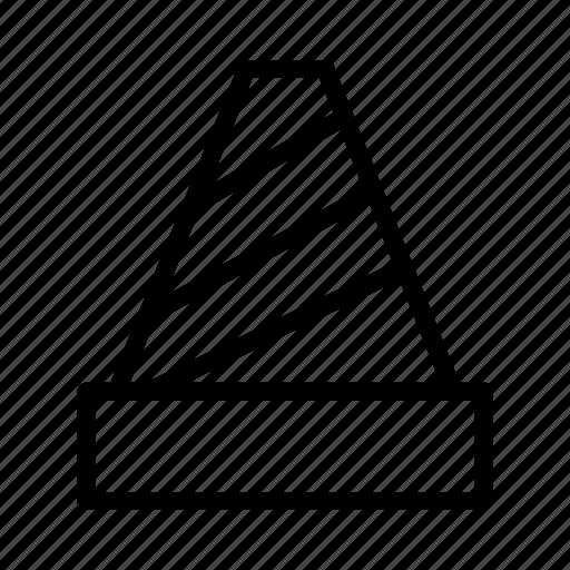 cone, direction, road, traffic icon
