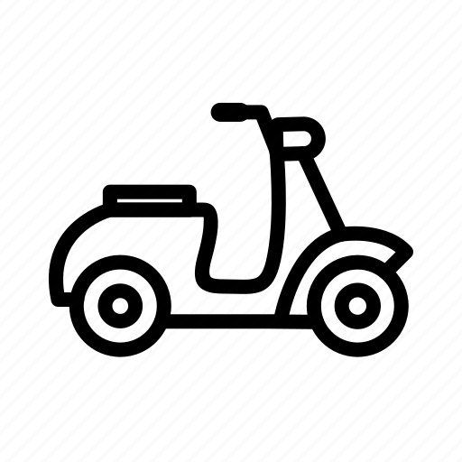 bike, motorbike, transport, vespa icon