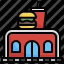 fast, food, burger, hamburger, junk