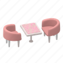 furniture, table, chairs, dining, room, cafe