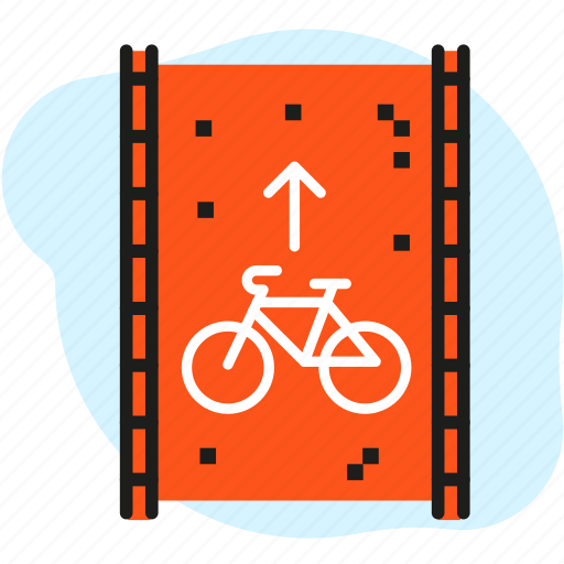 bicycle, bike, bike path, cityscape, cycle, infrastructure, park icon
