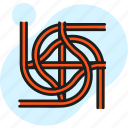 carriageway, infrastructure, junction, rails, road, route, subway icon