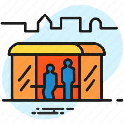 bus, bus stop, city, infrastructure, public transport, transport icon