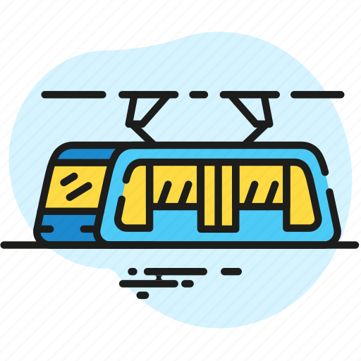 infrastructure, public transport, tram, transport, transportation, vehicle icon