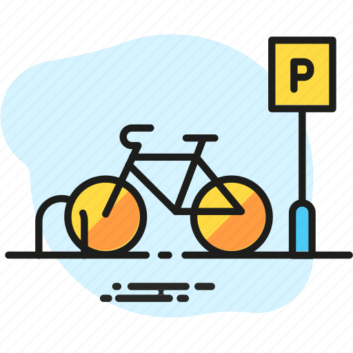 bicycle, bicycle park, bike, cycling, infrastructure, park, parking icon