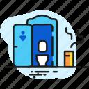 bio-toilet, restroom, toilet, water closet, wc icon