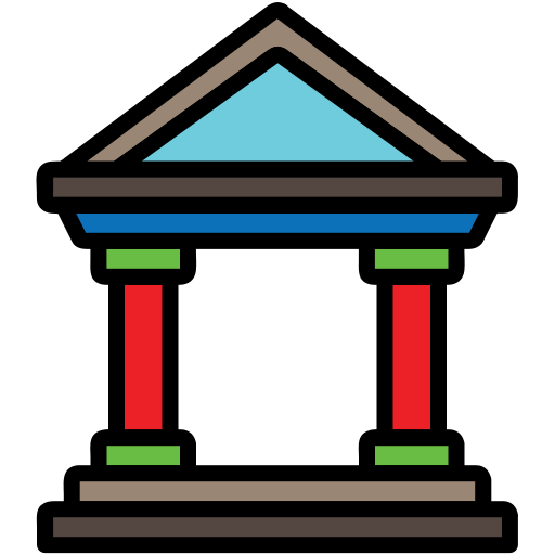 bank, banking, building, business, city elements, finance, money icon
