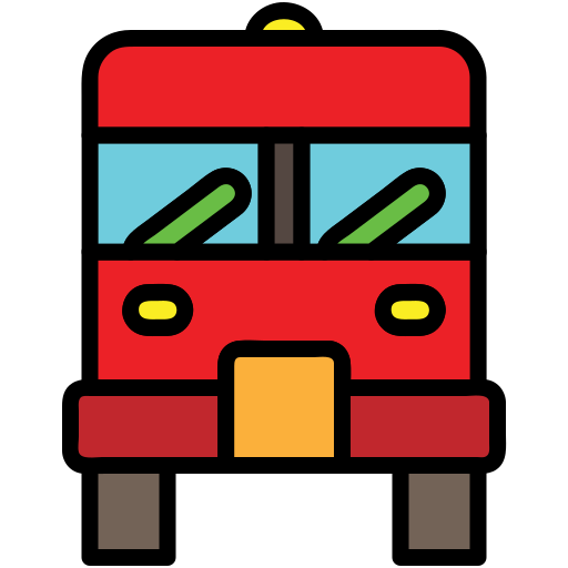 bus, city elements, fire truck, transport, transportation, vehicle icon