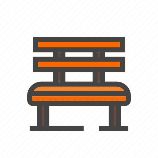 bench, chair, city, elements, park, seat, town icon