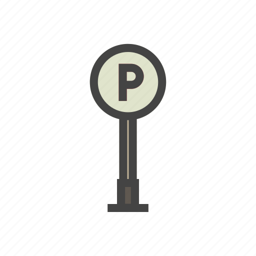 city, elements, park, parking, people, town icon