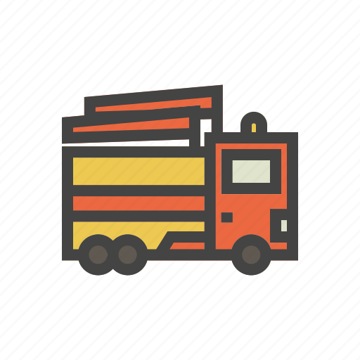 city, elements, fire fighter, fire fighter car, park, people, town icon