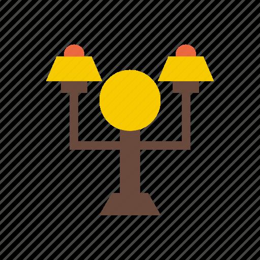 building, city, elements, facilities, lamp, park, public icon
