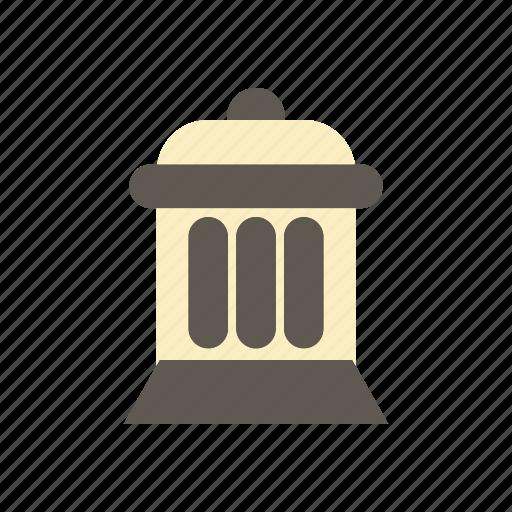 building, city, elements, facilities, park, public, trash can icon