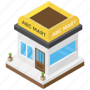 mart, mart exterior, mini mall, shop, shopping mall icon