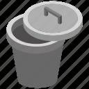 bin, dustbin, garbage container, recycle bin, trash bin, waste management icon