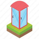 booth, kiosk, phone booth, small market, stall icon