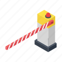 barricade, barrier, road barrier, road safety, traffic barrier icon