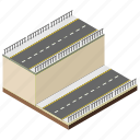 carpeted roads, city roads, overpass, roads, underpass icon