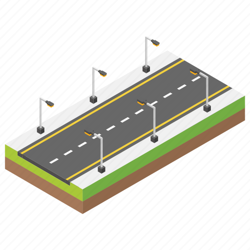 carpeted roads, city road, clean road, pathway, road icon