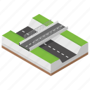 bridge, cityscape, flyover, overpass, road construction icon