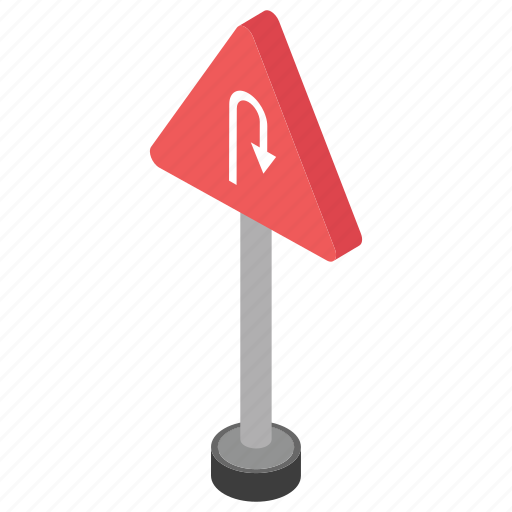 driving sign, road navigation, road sign, traffic sign, u-turn icon