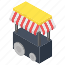 booth, food kiosk, kiosk, small market, stall icon
