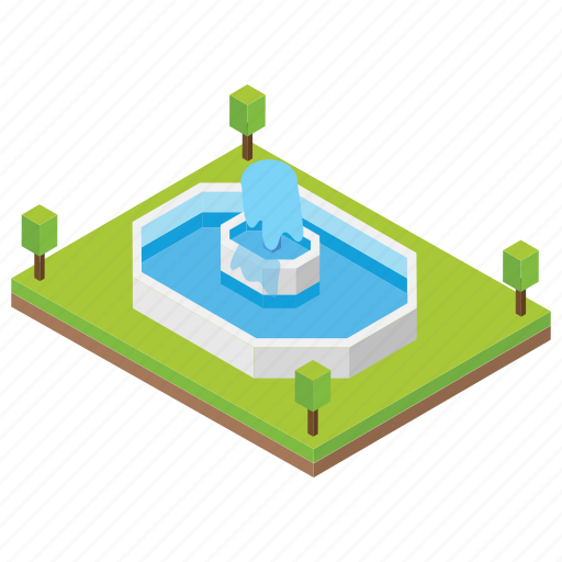 flowing water, fountain, irrigation system, water fountain, waterfall icon