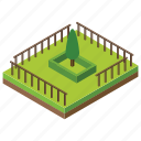 city area, forest, garden, land, park, playground, urban place icon