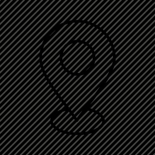 location, navigation, pin icon