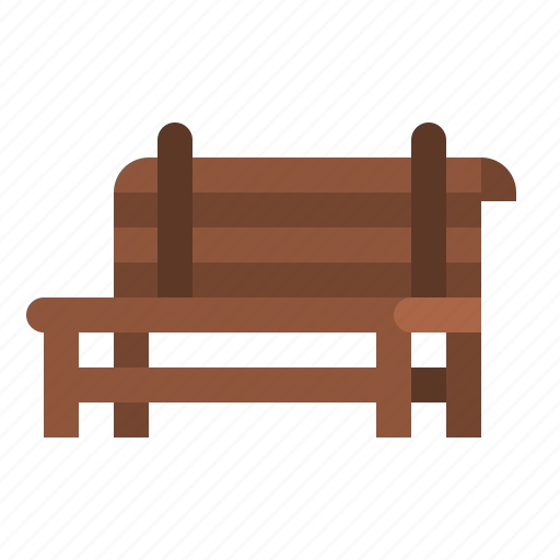 bench, city, furniture, park, seat icon