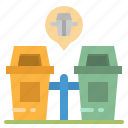 architecture, basket, bin, garbage, trash icon