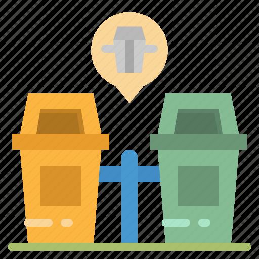 architecture, basket, bin, garbage, trash icon