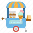 cart, cream, food, ice, sweet icon