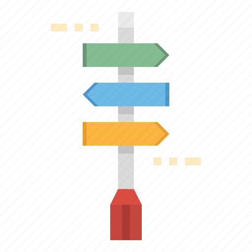 directions, lamp, lights, pole, street icon