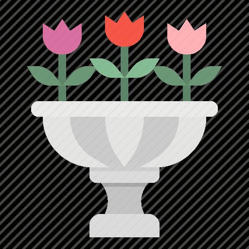 blossom, botanical, flower, garden, park icon