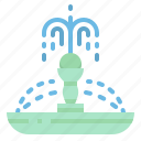 city, fountain, garden, urban, water icon
