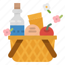basket, camping, food, holiday, picnic icon