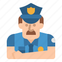 guard, jobs, police, policeman, security icon