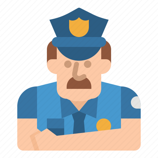 guard, jobs, police, policeman, security icon