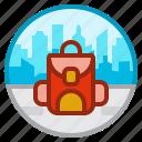 backpack, bag, travel, tourism