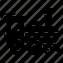 rail, steam train, train engine, transport, vehicle icon