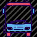 automobile, bus, conveyance, public transport, transport, vehicle icon